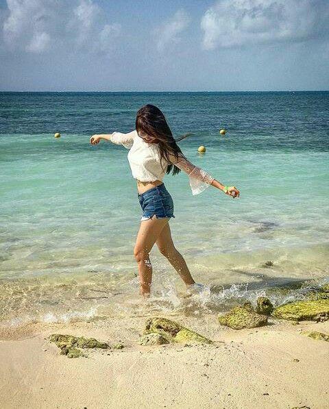 Karol a um tempo atrás em Cancun 😍❤
