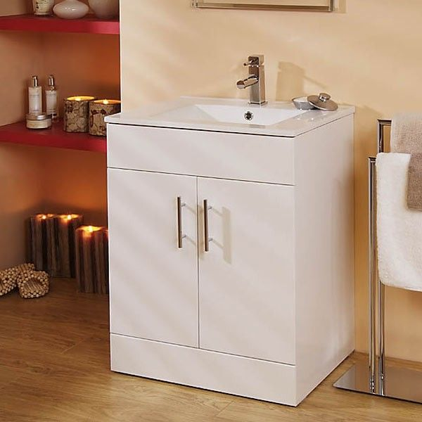 Beautifully designed contemporary 60cm vanity unit in a high gloss white finish. Comes ready assembled for ease of installation. N.B. WC Unit can be fitted on the left right or separate to the vanity unit.