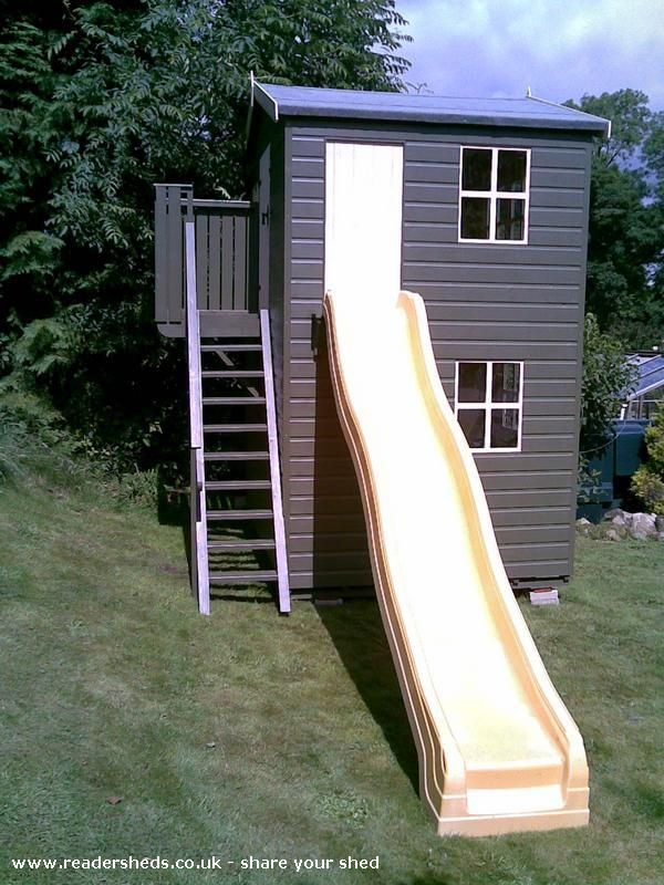 23 best Shed/playhouse images on Pinterest   Backyard playhouse. Cabins and Shed playhouse