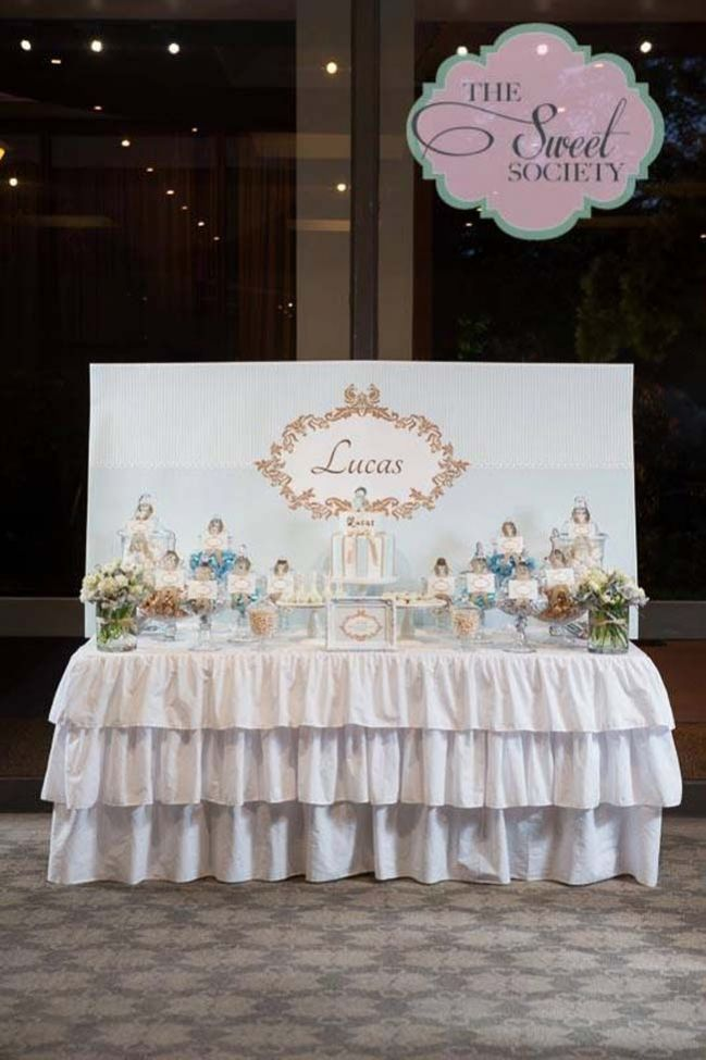Cake Table Decoration For Christening : 25+ unique Boy baptism party ideas on Pinterest ...