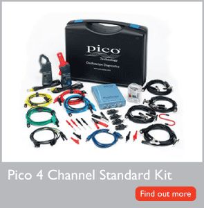 The Pico 4 Channel Standard Kit can be used on any type, make and model of vehicle without the need for expensive vehicle-specific harnesses or other add-ons.  The kits are supplied with PicoScope Automotive software. This feature-rich software is capable of capturing even the most complex of waveforms, yet the intuitive controls and comprehensive reference library ensures it is both quick and easy to use.  PicoScope Automotive software is free