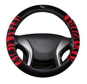 Moolecole Auto Antidérapant Couverture De Volant En Hiver Doux Peluche Housse De Volant Auto Chaud Volant De Direction Cache Protection…