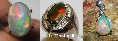 Batu Permata dan Batu Mulia Indonesia: Cara Mengenali Batu Opal Asli dan Membedekan denga...