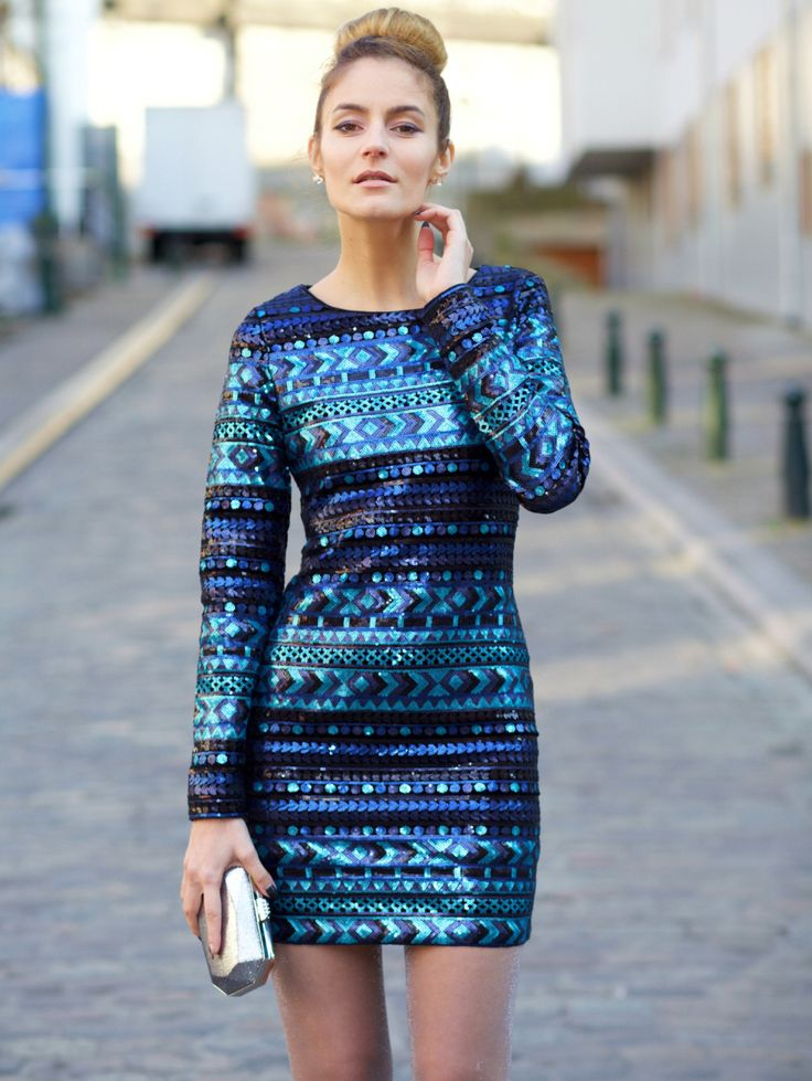 Shop Blue Long Sleeve Sequined Bodycon Dress online. SheIn offers Blue Long Sleeve Sequined Bodycon Dress & more to fit your fashionable needs.