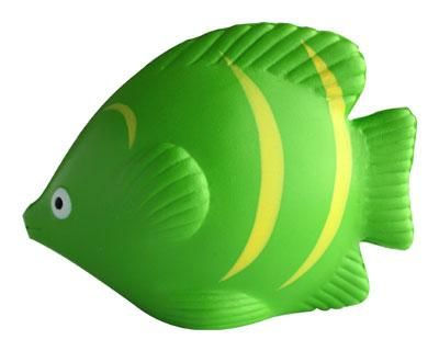 HOT TROPICAL FISH GREEN – S67  Price includes 1 color, 1 position print   2 Color imprint available for an additional charge  Decoration option: Pad print  Print Area: 30mm x 25 mm  Product Size: 90mm x 70mm x 45 mm