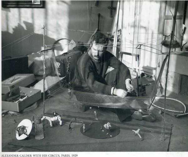 Alexander Calder. Photograph by  Andre Kertesz.
