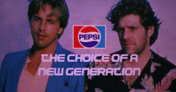 """Glenn Frey in 1985 """"Miami Vice"""" Inspired Pepsi Commercial"""