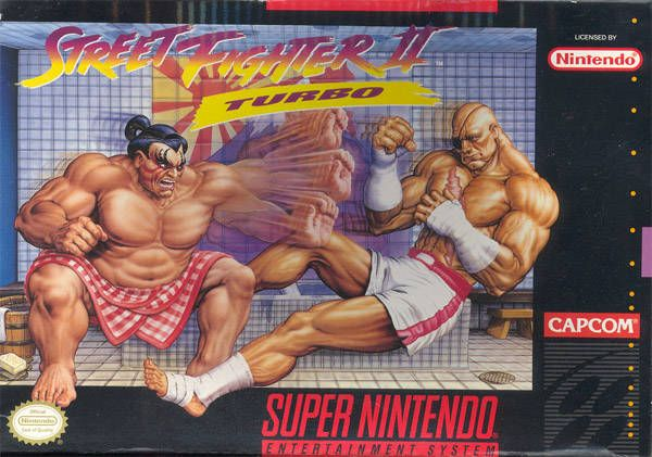 Street Fighter cartridge cover