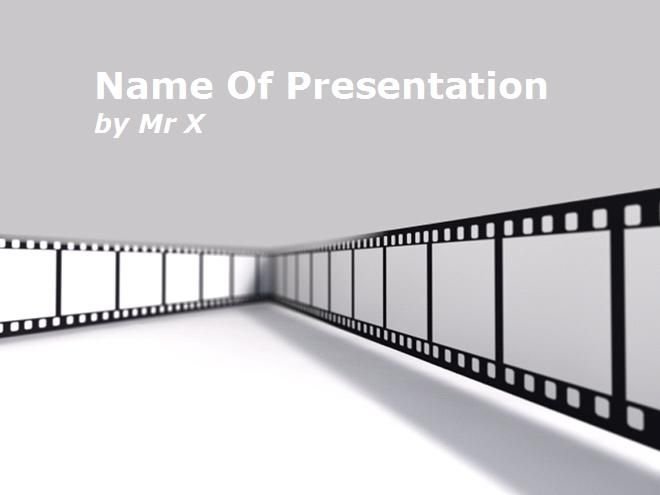11 best entertainment powerpoint templates images on pinterest a powerpoint template with a representation of a cinema movie frame on a grey background this presentation template includes 1 master background and 1 toneelgroepblik Image collections