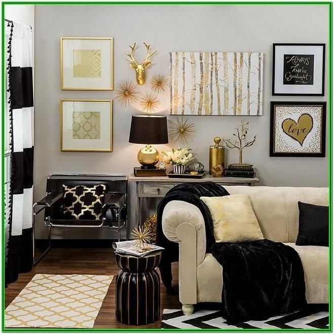 Living Room Decor Ideas White And Gold Gold Living Room Decor Gold Home Decor Gold Accents Living Room Gold accent living room decor