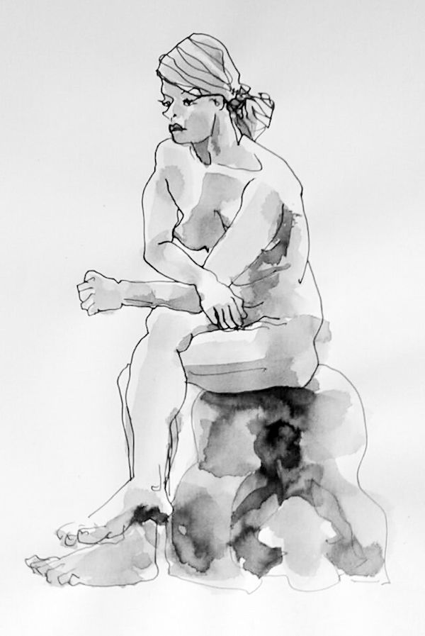 The perfection of imperfection - ARTiful: painting demos  Drawing by Catherine Schechter