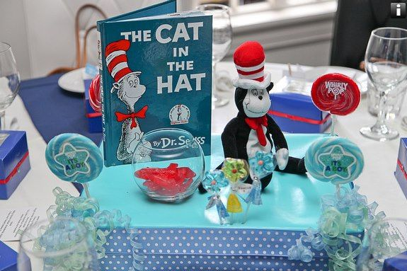liam 39 s storybook baby shower cat in the hat centerpiece liam