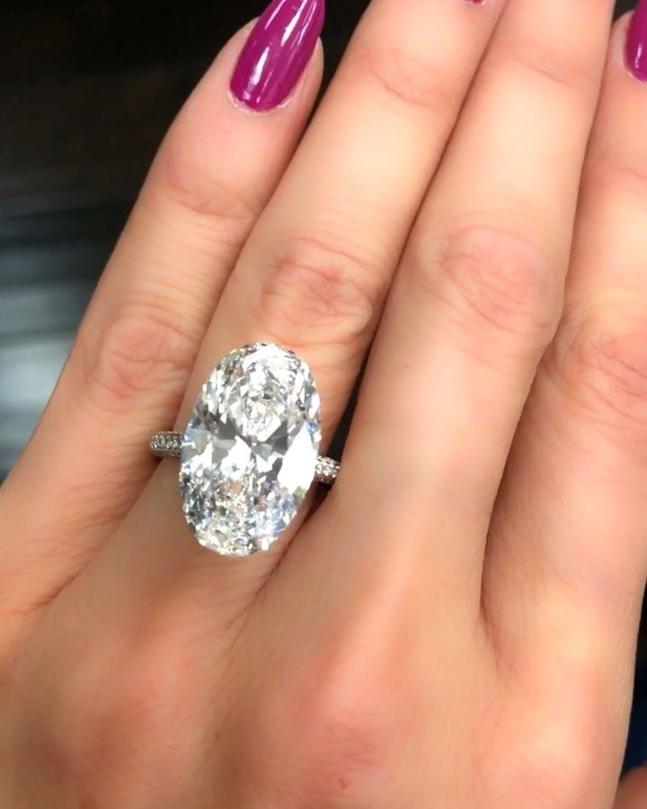 Engagement Ring Concierge On Instagram This 10 Carat Oval Gorgeousness Beyond Elongated And Elegant How Would You Set Engagement Rings Rings Engagement