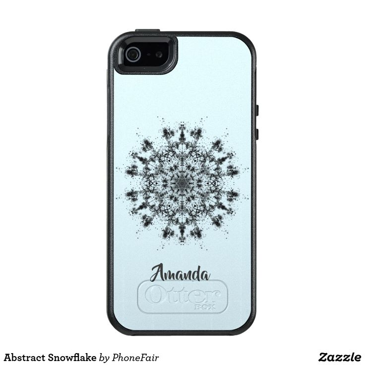 Abstract Snowflake iPhone SE/5/5s Case - personalize with your name #blue #winter