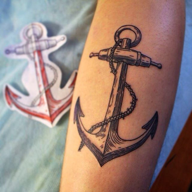 70+ Marine Strong Anchor Tattoo Designs and Meaning - Love of The Sea