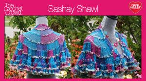 Learn to crochet Sashay Shawls. It's a lot easier than it looks. It's a matter of understanding the slip stitching and what to look for when doing so.