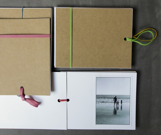 A modern photobook. #scrapbook #rubberband #white