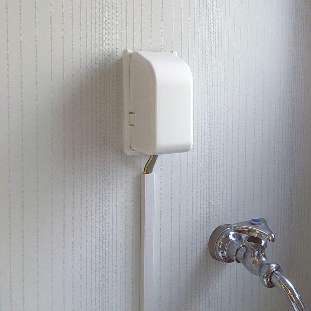 コンセントカバー 洗面所 100均 ダイソー Diy などのインテリア実例
