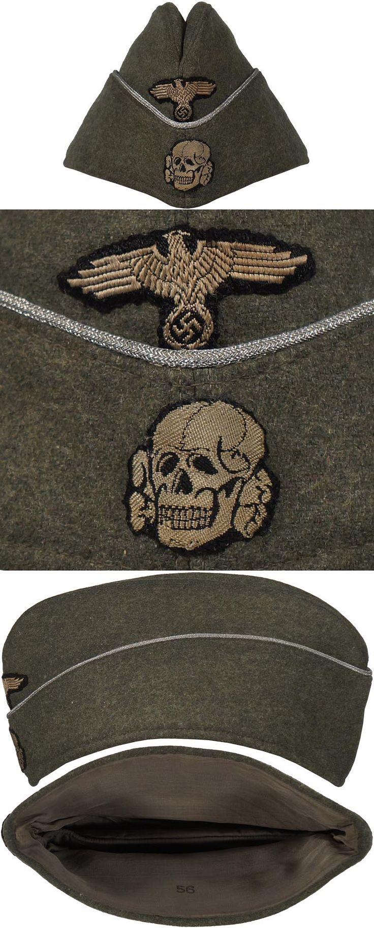 Original SS OFFICER'S M40 OVERSEAS CAP. (Feldmütze neuer Art für Führer)  Check out my website for more original WW2 items: http://www.vantiques.nl