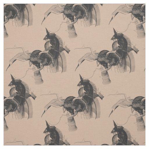 Black Digital Unicorn Figure - Custom background Fabric color / Select from 7 fabric types! #fomadesign