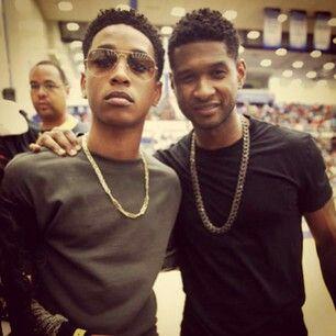 Jacob and usher. Usher looks yung here
