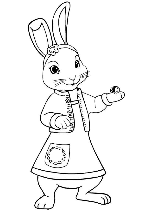 Peter Rabbit Coloring Page Drawing Of Lily Bobtail L Friend Of Peter Rabbit Coloring Page Peter Rabbit And Friends Unicorn Coloring Pages Minion Coloring Pages