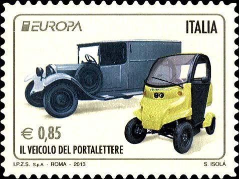 2013 - serie Europa - Veicoli usati per il servizio postale
