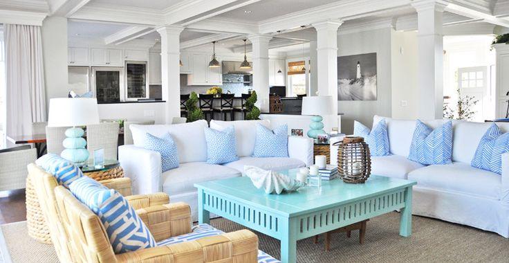 : Decor, Coffee Tables, Living Rooms, Beach Houses, Dream House, Livingroom, Beachhouse, Shorely Chic