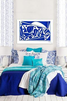 ... Cobalt Blue Bedrooms on Pinterest