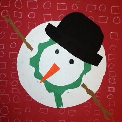 SnowmanArt Teachers, Christmas Crafts, Art Crafts, Art Blog, Heart Art, Perspective Snowmen, Elementary Art, Art Projects, Aerial Perspective