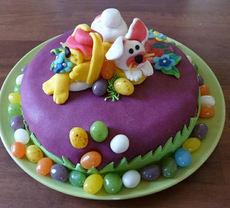 #Taart voor Pasen van #marsepein