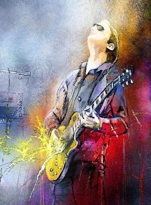 What an awesome painting of Joe Bonamassa. I think I want one :)