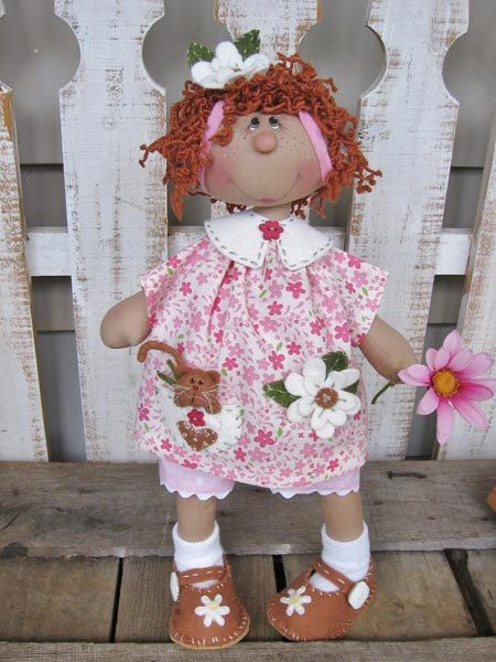 Primitive Wilabee Daisy Bug E pattern by DeenasCountryHearth: Country Dolls, Raggedy Anne, Clothing Dolls, Folk Art, Daisies Bugs, Patterns Wilab, Dolls Patterns, Art Dolls, Clothing Folk
