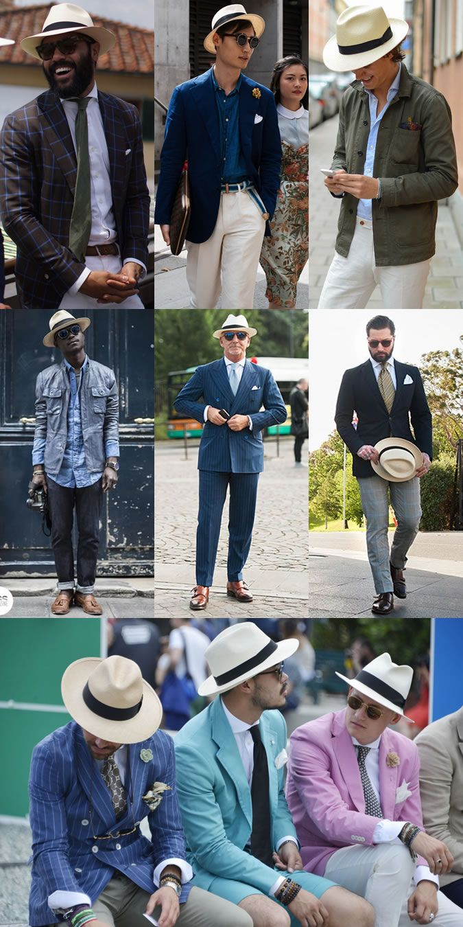 95156afb1972b7 2014 Men's Summer Hats: The Panama Hat Street Style Inspiration | ANCRE...  in 2019 | Hats, Mens summer hats, Mens fashion:__cat__