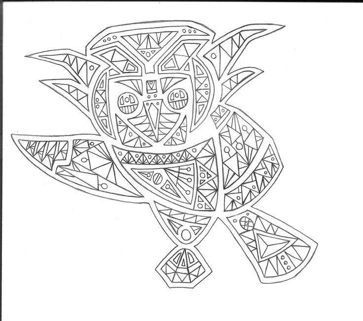 búho asimétrico_diseño geométrico