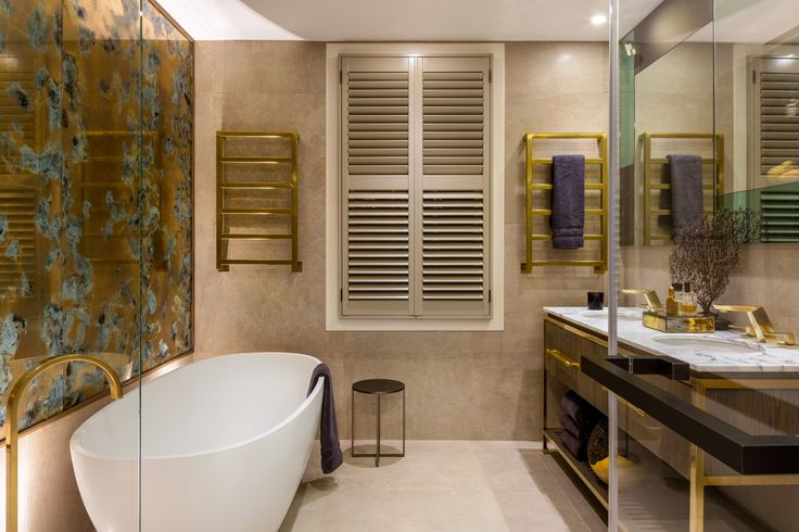 The Sound of Silence - Celebrity interiors. Daniel Hopwood, interior designer London. Master bathroom