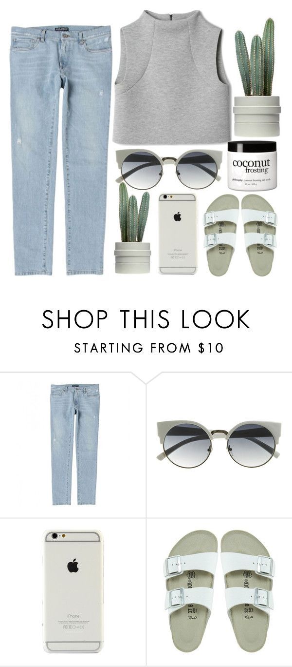 """""""// mermaid theory"""" by unicornskitkat ❤ liked on Polyvore featuring Dolce&Gabbana, Birkenstock and philosophy"""