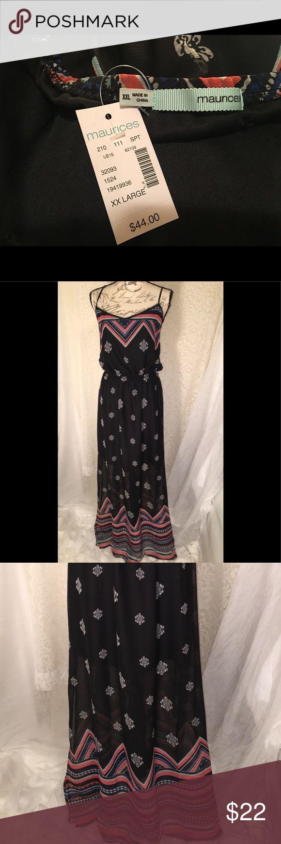 NWT Maurices maxi dress size XXL Gorgeous Maxi dress! NWT from Maurices Maurices Dresses Maxi