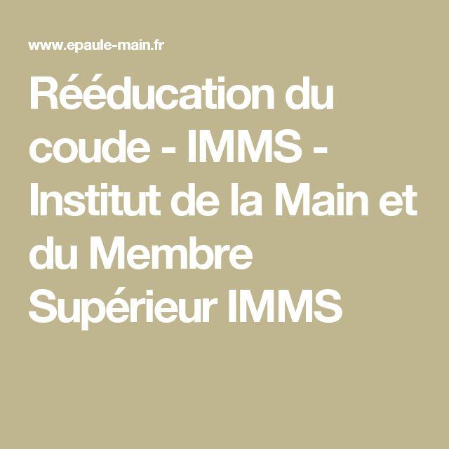 Rééducation du coude - IMMS - Institut de la Main et du Membre Supérieur IMMS