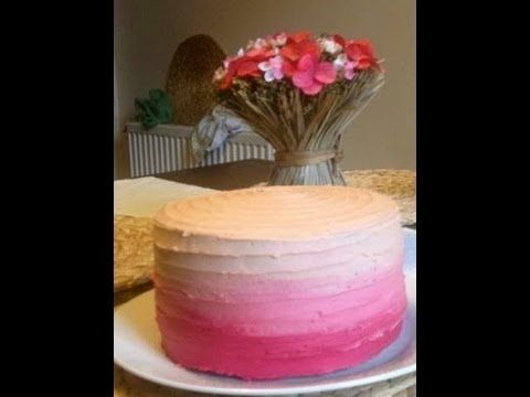 ▶ How to Ice an Ombre Cake! Easy Method - YouTube