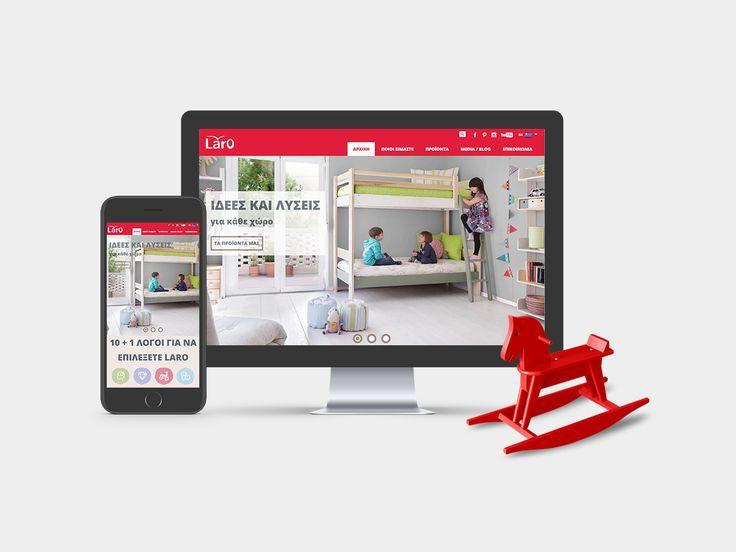 Η ιστοσελίδα της εταιρείας παιδικών επίπλων LARO, σχεδιάστηκε και κατασκευάστηκε από την ομάδα μας. Στη νέα ιστοσελίδα κυριαρχούν τα έντονα χρώματα και οι μεγάλες φωτογραφίες των προϊόντων. Κάθε προϊόν που παρουσιάζεται διαθέτει πληροφορίες για τον σχεδιασμό και τις δυνατότητες του να προσαρμόζεται σε όποια νέα ανάγκη παρουσιαστεί. www.laro.gr