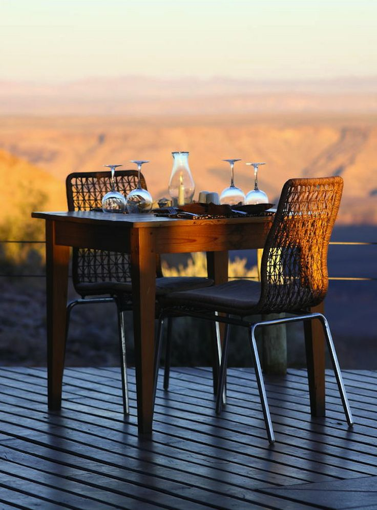 Breakfast overlooking the Fish River Canyon