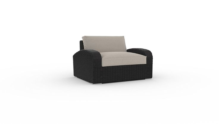 Azores Large Chair, 1pc, Sunbrella Fabric, Deep Seating, Garden Outdoor Patio All-weather Furniture (Cast Ash). Please check all of our collections: Bretton, Turo, Azores, Yorkville, Belstone, etc., to make sure you choosing the right one to fit your style and your space, happy shopping. Timeless design. Thick deep seating cushions made with Sunbrella fabric. Stain, fade and mildew resistant Sunbrella cushions. Powder coated, welded aluminum rust proof frame. UV protected PE rattan.
