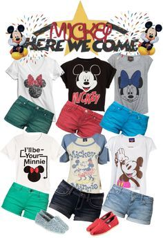 Disney Outfits, Disneyworld Outfit, Mickey Shirt, Disneyland Outfits, Disneybound, Disneyland Family Shirts, Disney Vacation Outfits, Disney World Shirts