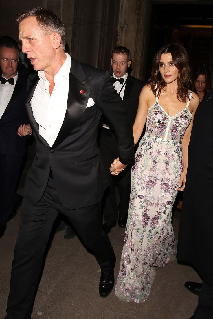 Daniel Craig and Rachel Weisz, who wore a gown by Alexander McQueen