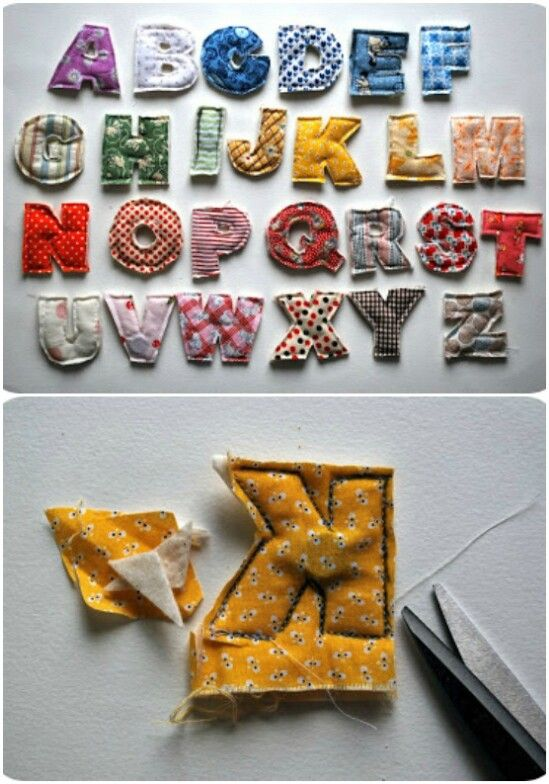Plush Alphabet - 20 Adorably Creative Upcycling Projects To Repurpose Old Baby Clothes