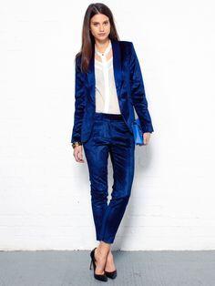 blue velvet suit womens - Google Search