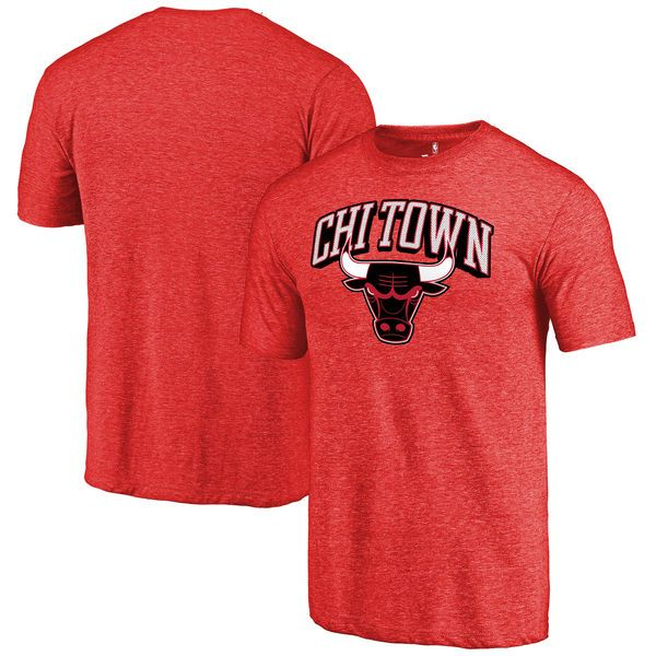 Chicago Bulls Fanatics Branded Hometown Collection Chi Town Tri-Blend T-Shirt - Red - $29.99