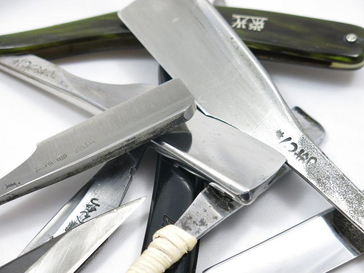 Kamisori razors for sale and straight razors for sale.  Several different manufacturers are available including Iwasaki, Inoue, Tosuke, Tousuke, Ikkansai, Tamagahane steel, ball steel, New Azuma, Henkotsu, Showa, HKR, Ribbon, Starlet, Parker, Fujiwara, New Old Stock, NOS, shave ready