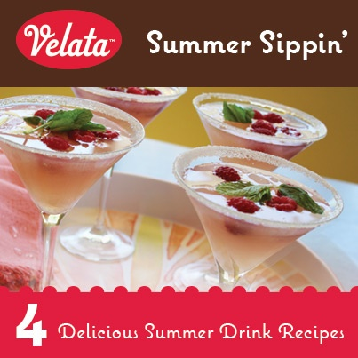Summer Sippin' with #Velata! Four delicious summer drink recipes using #Mixables to keep you cool as it warms up